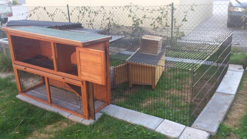Ganz einfache gehege - Kaninchenstall einrichten ...