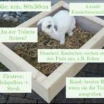 Kaninchen-Toiletten