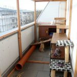 balkon begehbares gehege