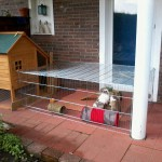 kaninchengehege terrasse