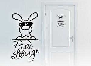 pipi lounge kaninchen toilettentüre
