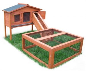 verbindungsrampe mit dach kaninchen