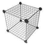 Wire storage cubes als Kaninchengehege