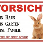warnschild kaninchen zaun